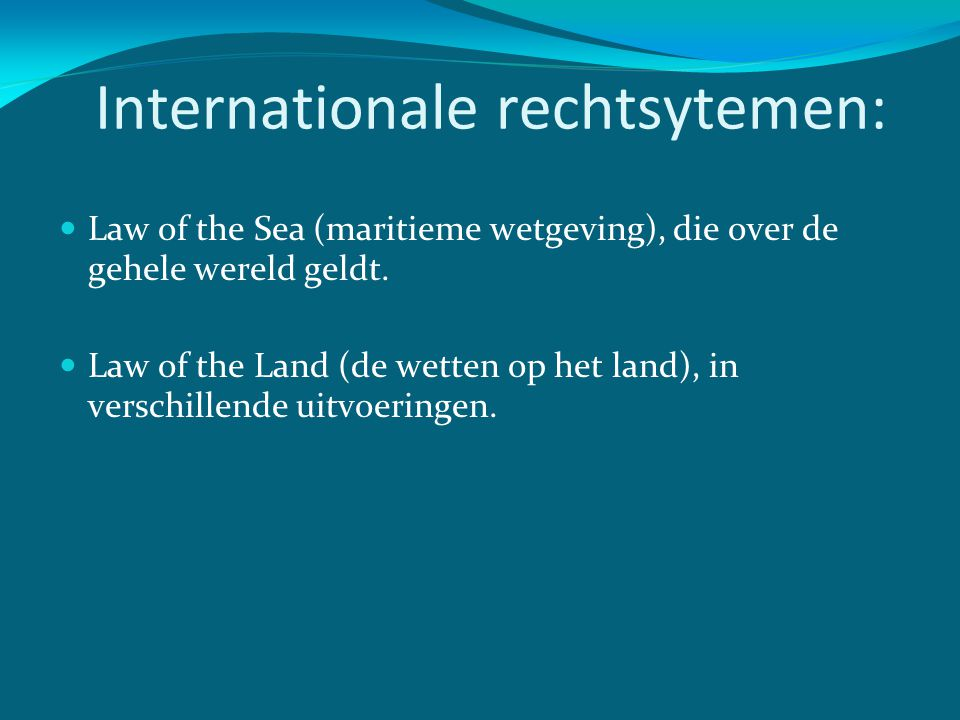 Internationale rechtsytemen: