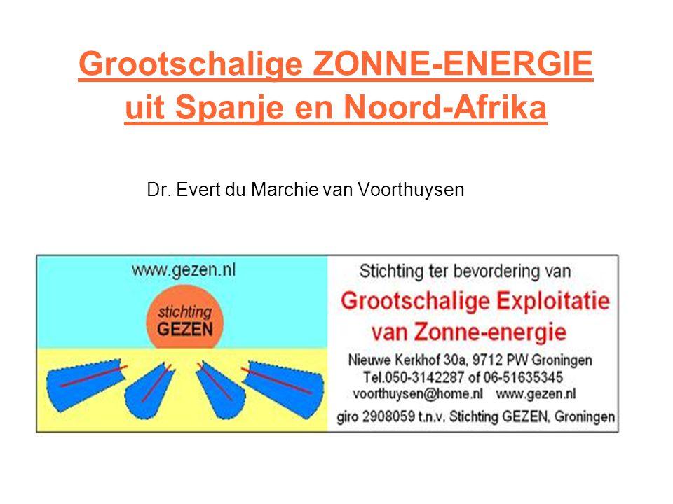 Grootschalige ZONNE-ENERGIE uit Spanje en Noord-Afrika