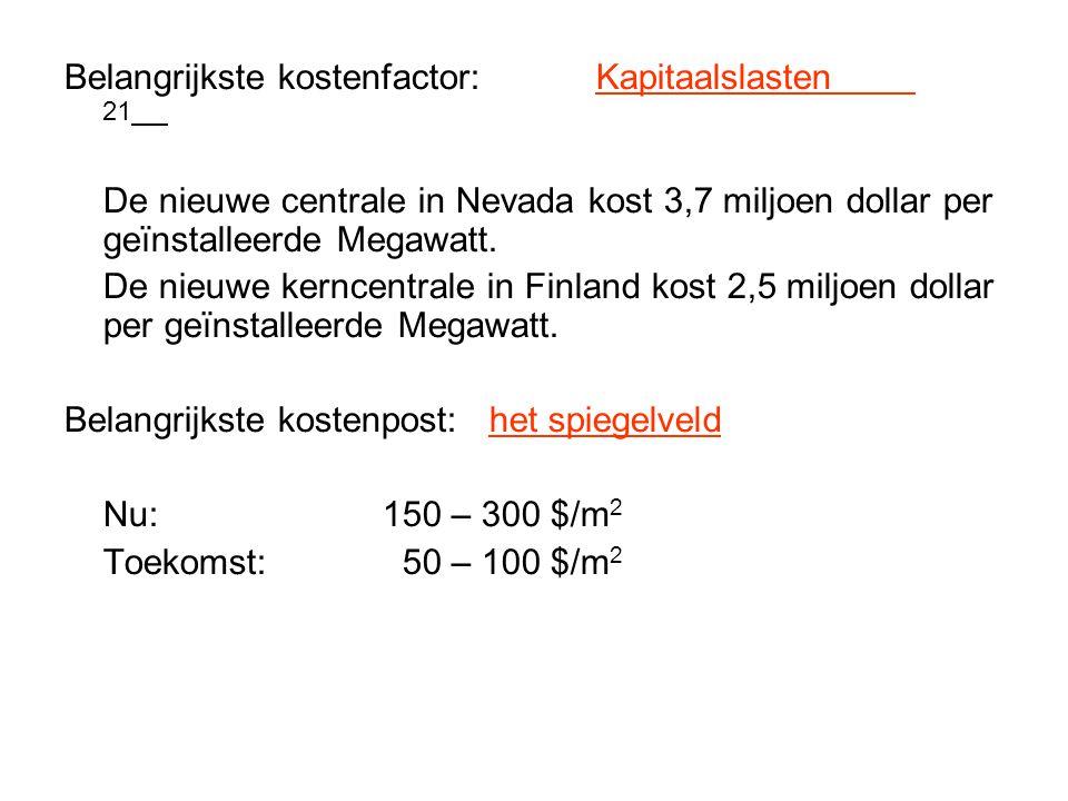 Belangrijkste kostenfactor: Kapitaalslasten 21
