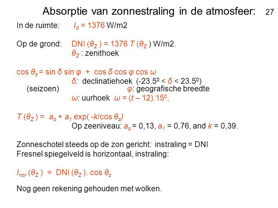 Absorptie van zonnestraling in de atmosfeer: 27