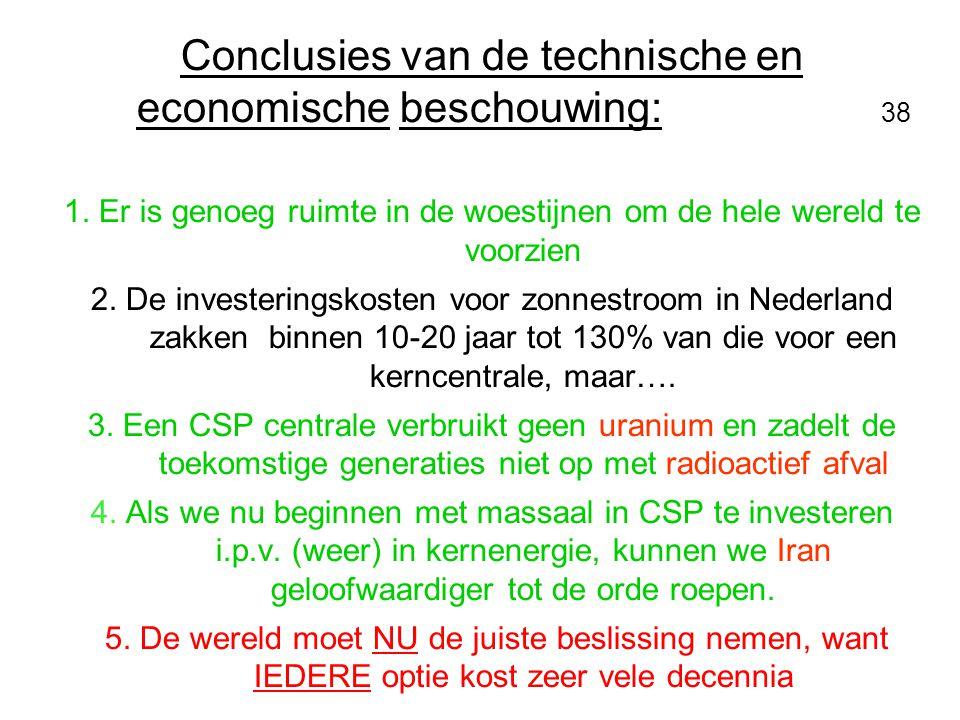 Conclusies van de technische en economische beschouwing: 38