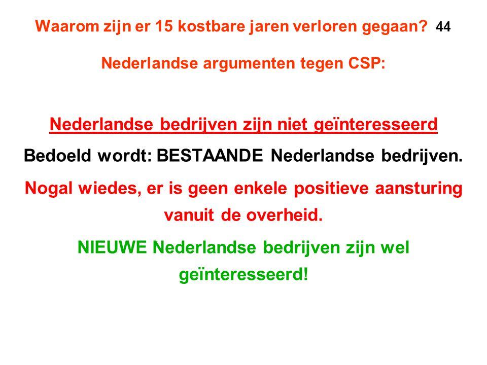 Nederlandse bedrijven zijn niet geïnteresseerd