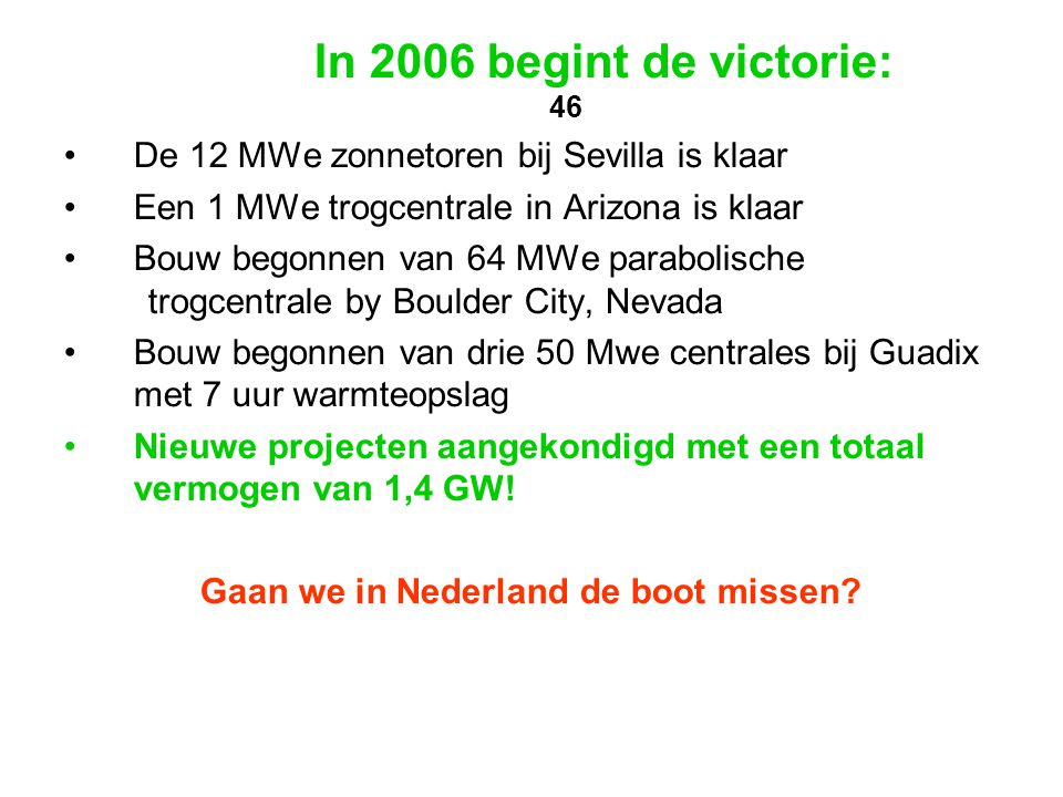 Gaan we in Nederland de boot missen