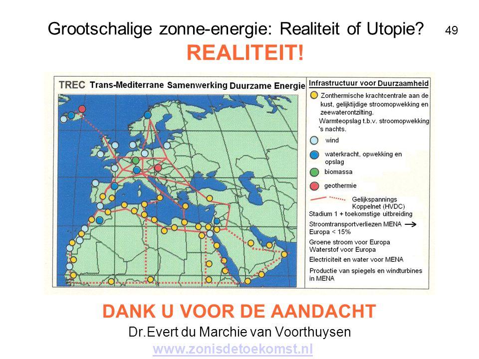 Grootschalige zonne-energie: Realiteit of Utopie 49 REALITEIT!