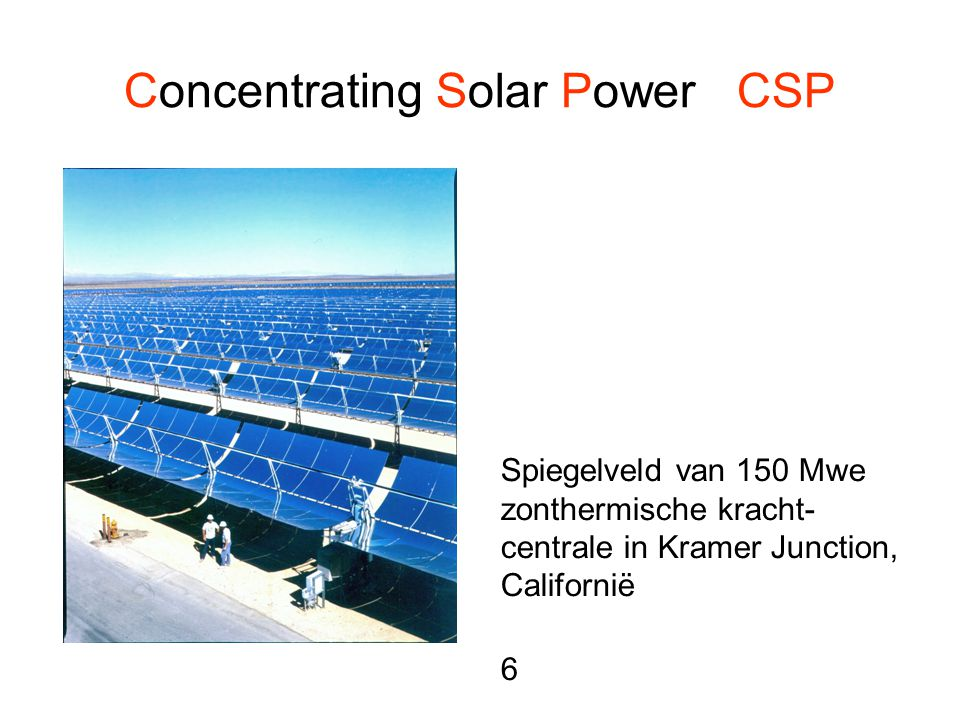 Concentrating Solar Power CSP