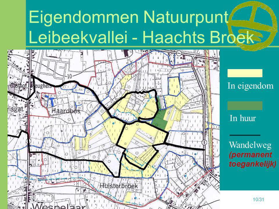 Eigendommen Natuurpunt Leibeekvallei - Haachts Broek