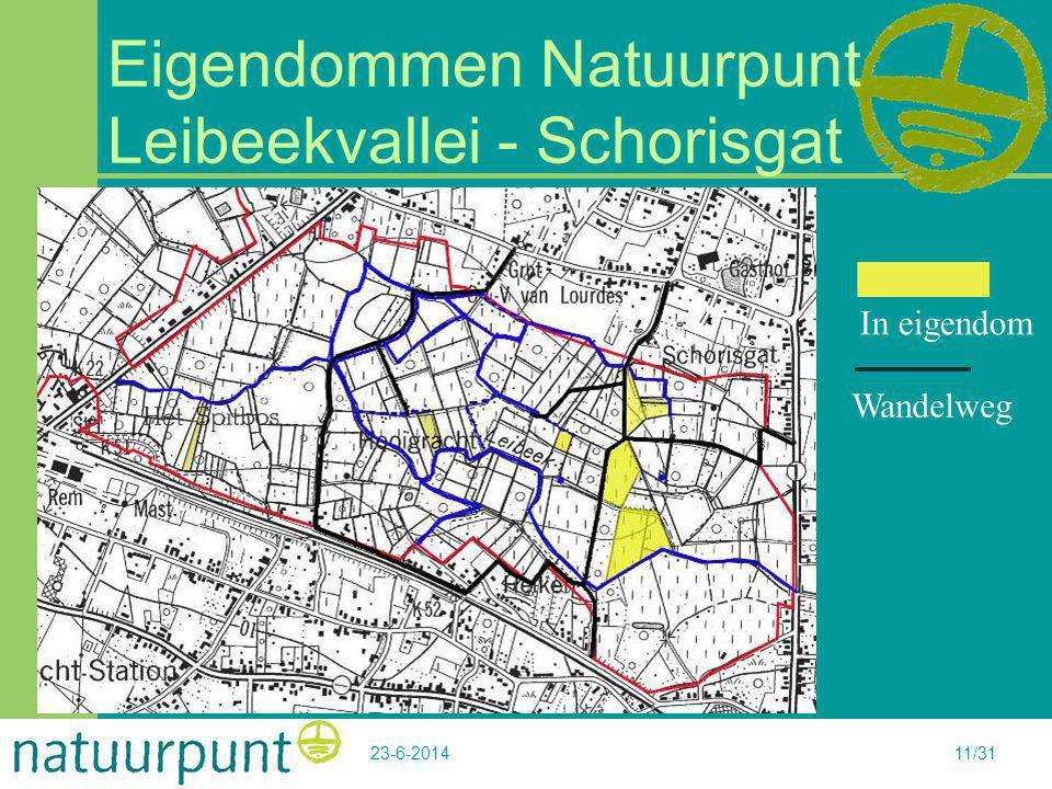 Eigendommen Natuurpunt Leibeekvallei - Schorisgat