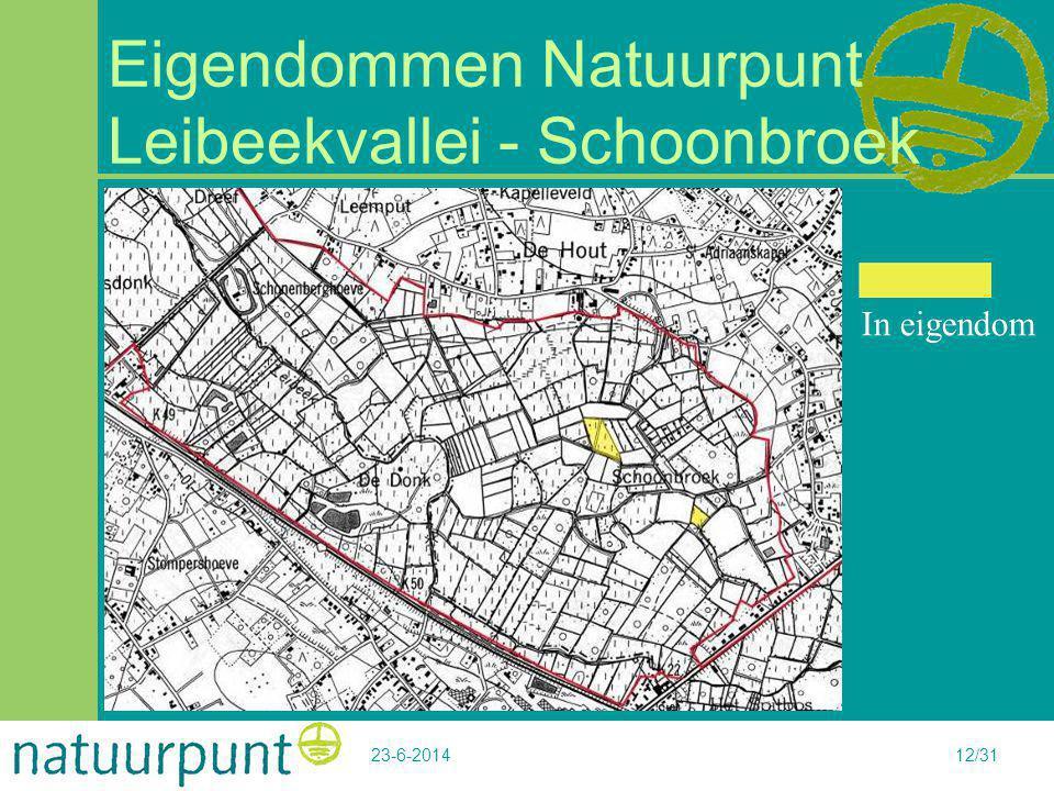 Eigendommen Natuurpunt Leibeekvallei - Schoonbroek