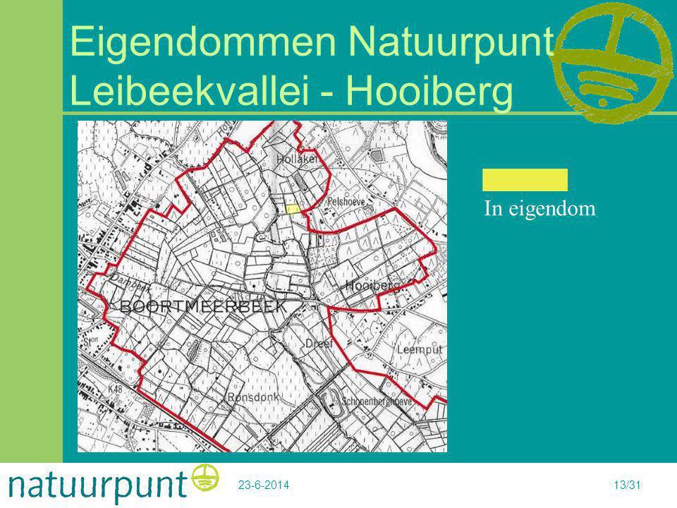 Eigendommen Natuurpunt Leibeekvallei - Hooiberg