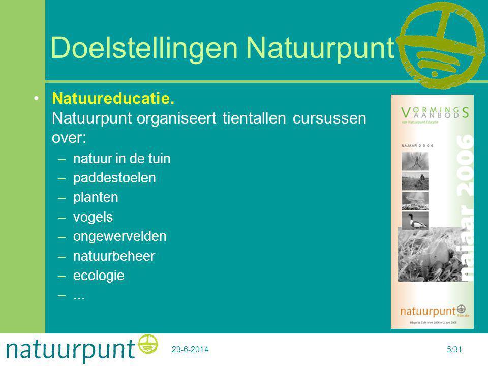 Doelstellingen Natuurpunt