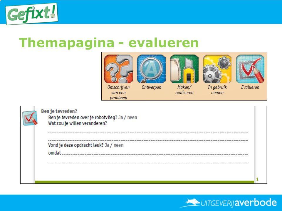 Themapagina - evalueren