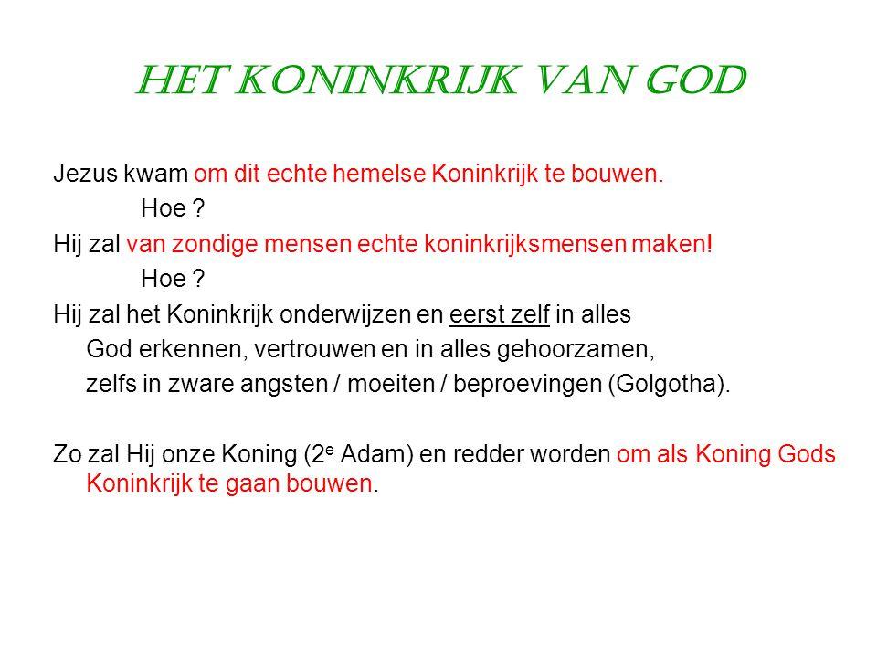 Het Koninkrijk van God Jezus kwam om dit echte hemelse Koninkrijk te bouwen. Hoe Hij zal van zondige mensen echte koninkrijksmensen maken!