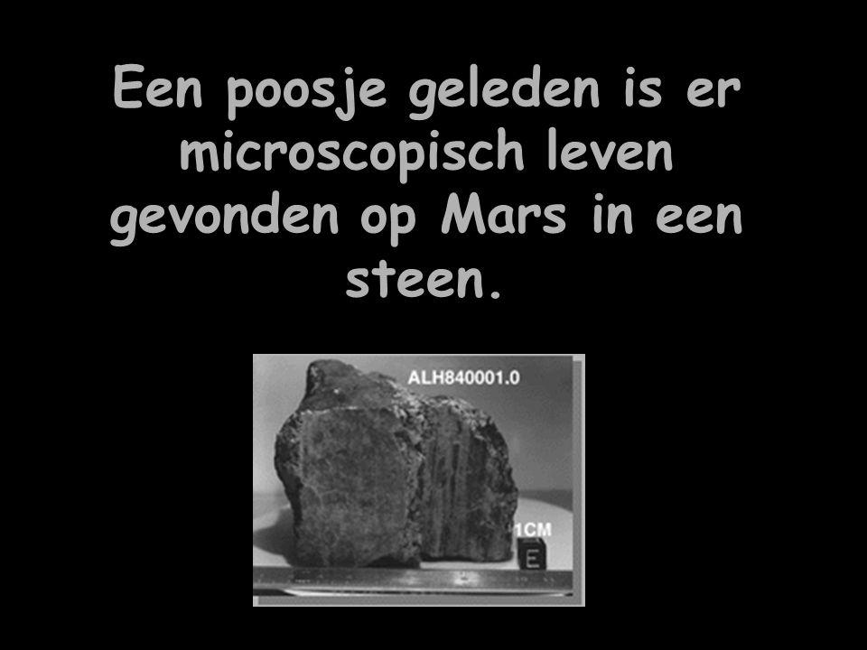 Een poosje geleden is er microscopisch leven gevonden op Mars in een steen.