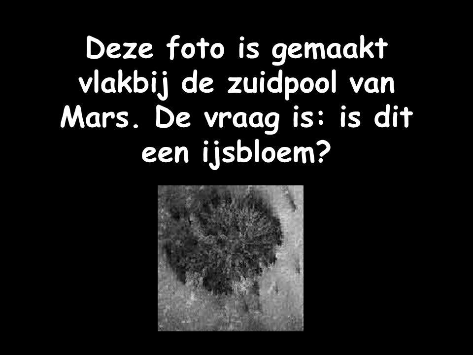 Deze foto is gemaakt vlakbij de zuidpool van Mars
