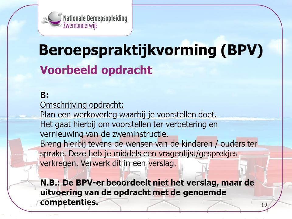 Beroepspraktijkvorming (BPV)