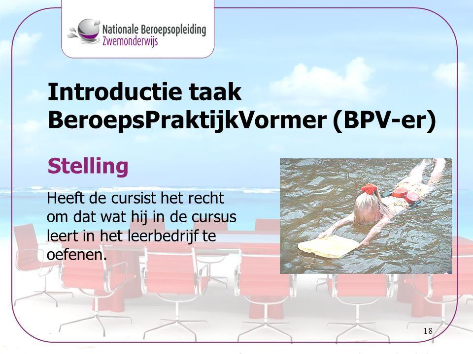 Introductie taak BeroepsPraktijkVormer (BPV-er)