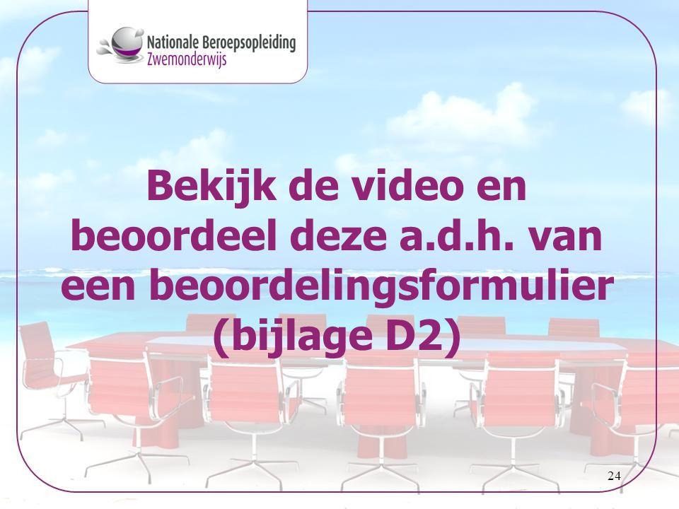 Bekijk de video en beoordeel deze a. d. h