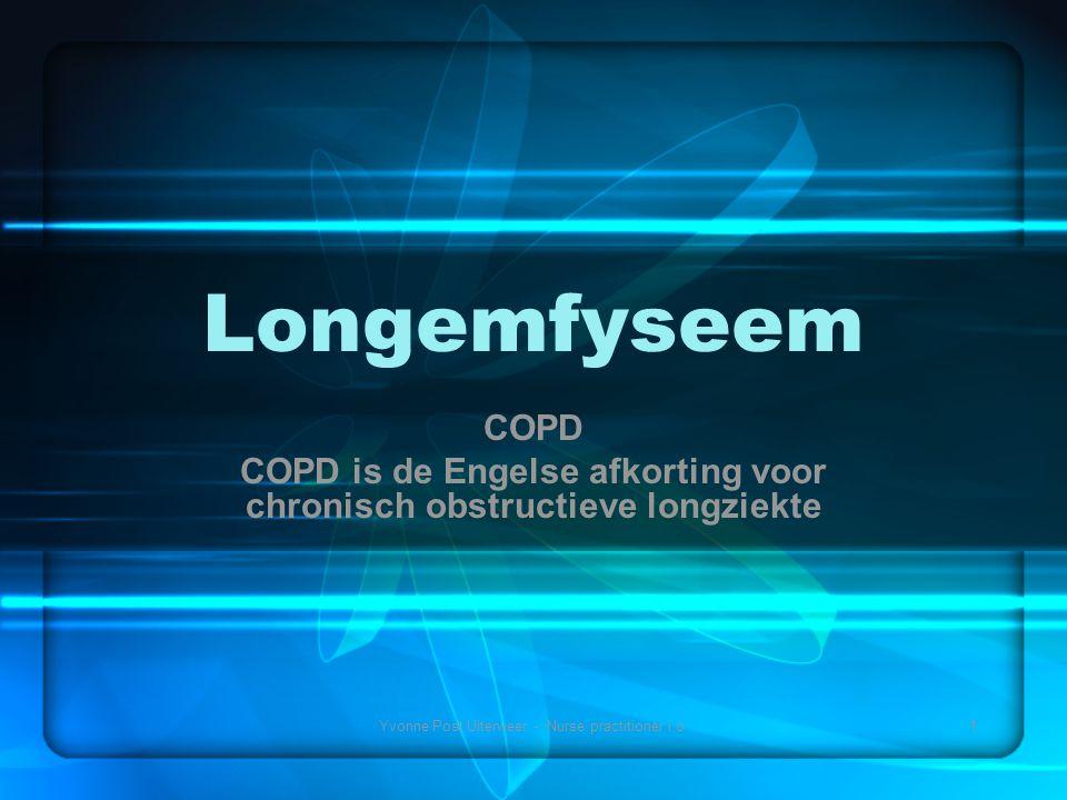 COPD is de Engelse afkorting voor chronisch obstructieve longziekte