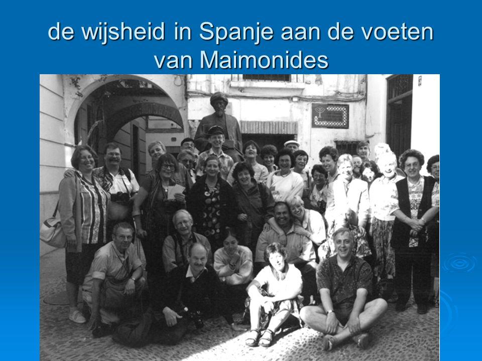 de wijsheid in Spanje aan de voeten van Maimonides