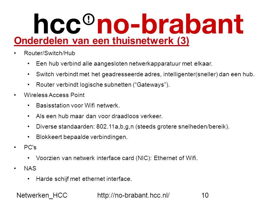 Onderdelen van een thuisnetwerk (3)