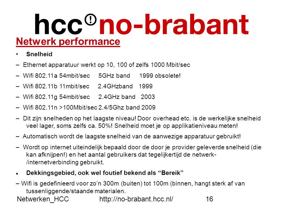 Netwerk performance Netwerken_HCC http://no-brabant.hcc.nl/ Snelheid