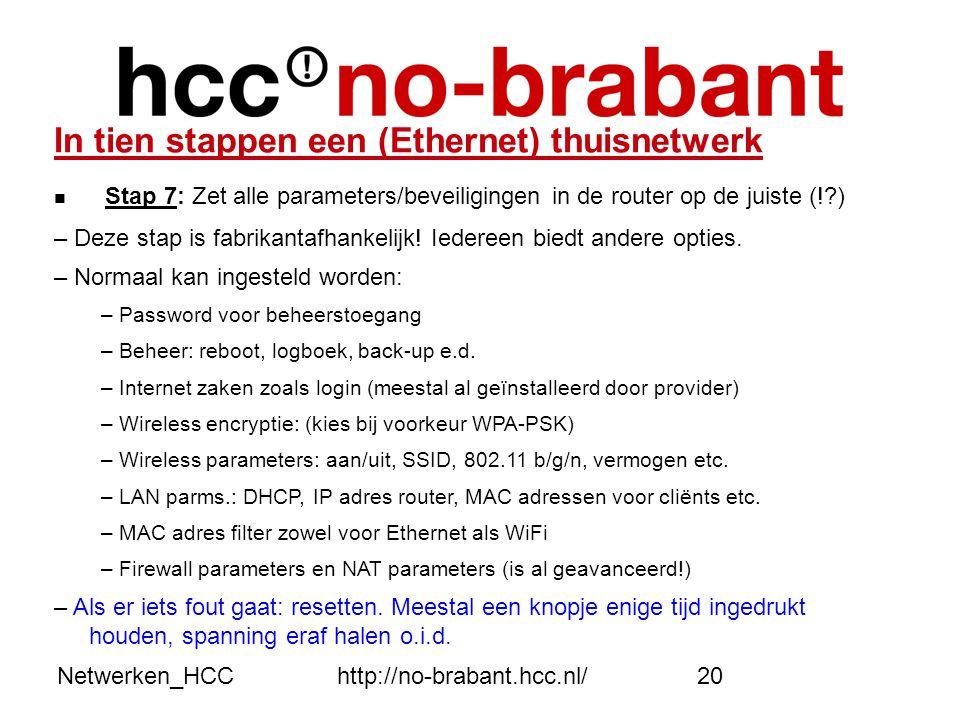 In tien stappen een (Ethernet) thuisnetwerk