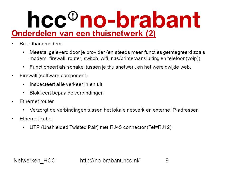 Onderdelen van een thuisnetwerk (2)