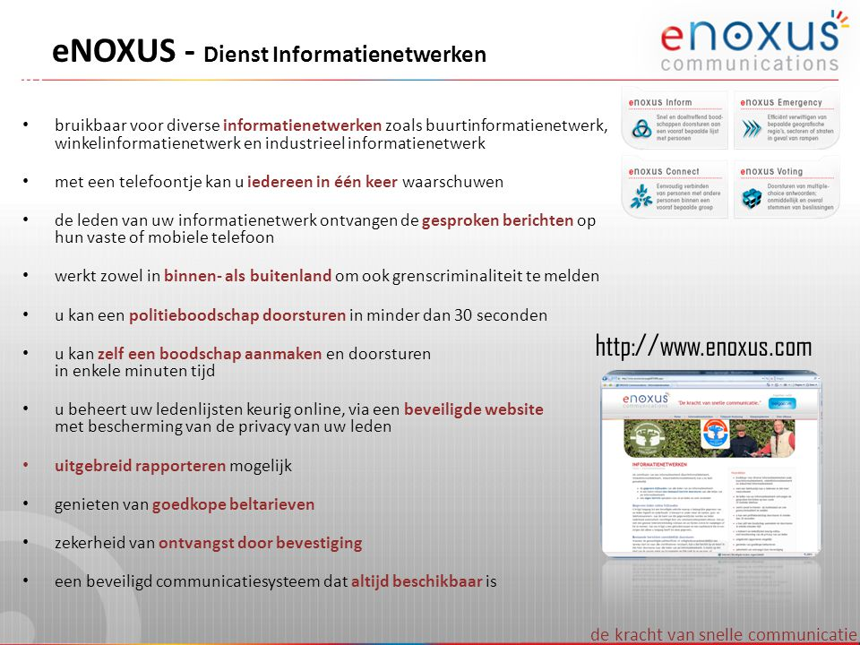eNOXUS - Dienst Informatienetwerken