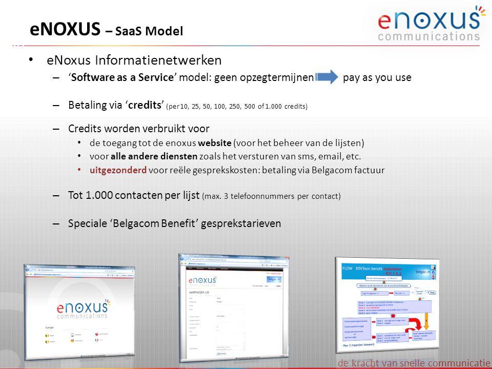 eNOXUS – SaaS Model eNoxus Informatienetwerken