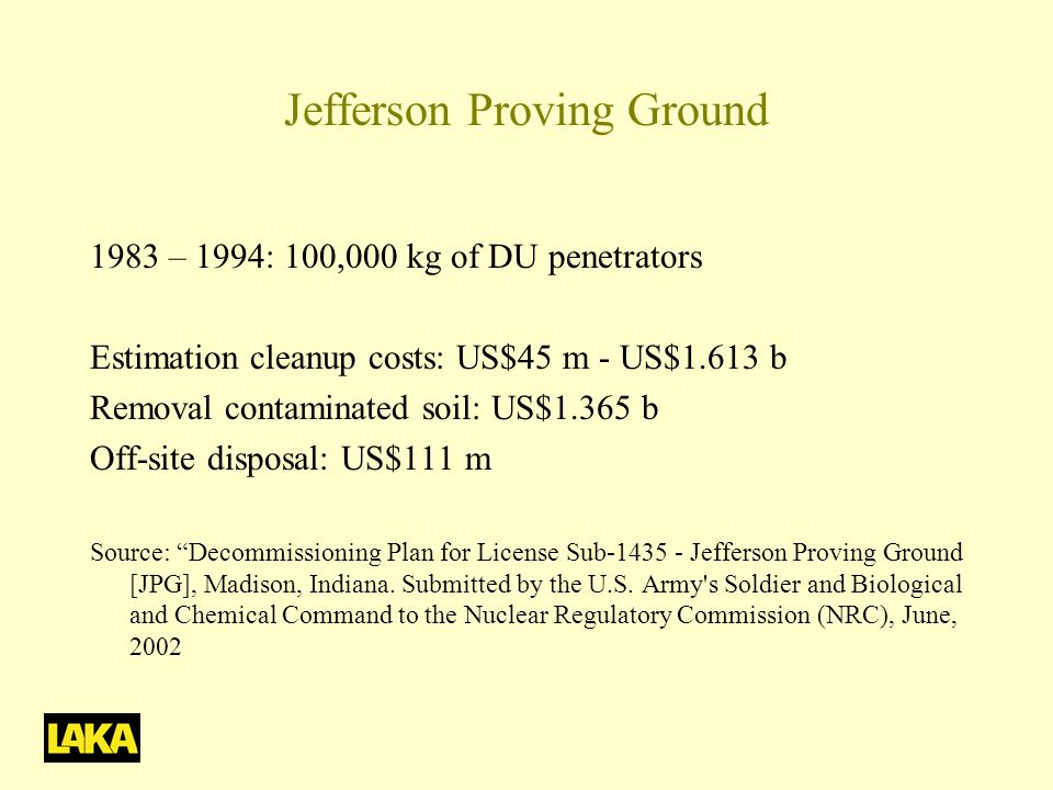 Jefferson Proving Ground
