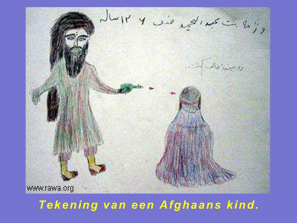 Tekening van een Afghaans kind.