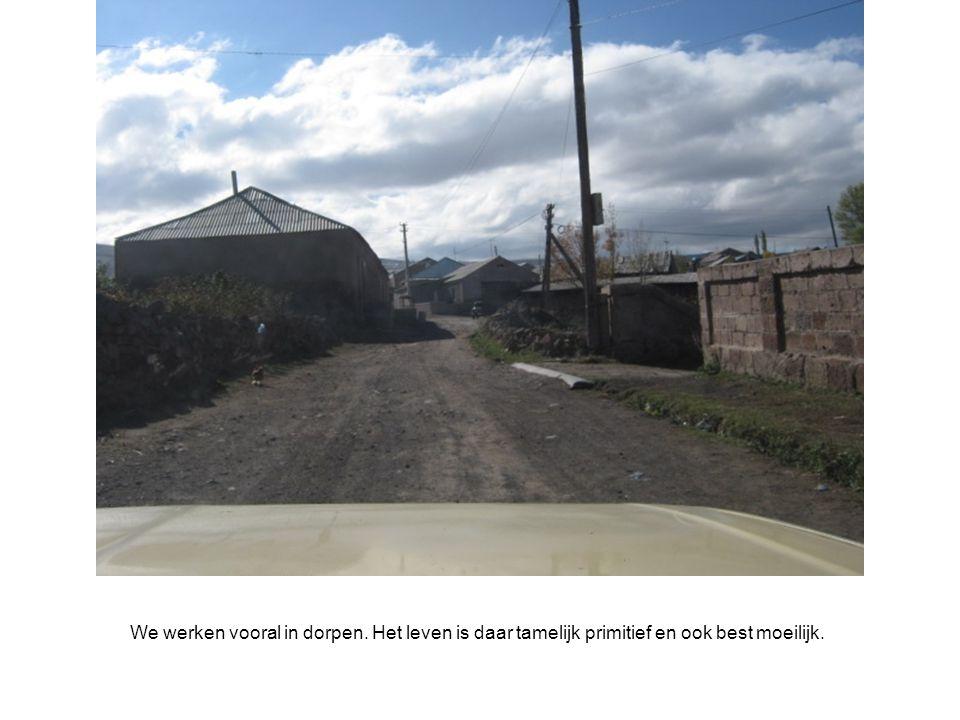 We werken vooral in dorpen