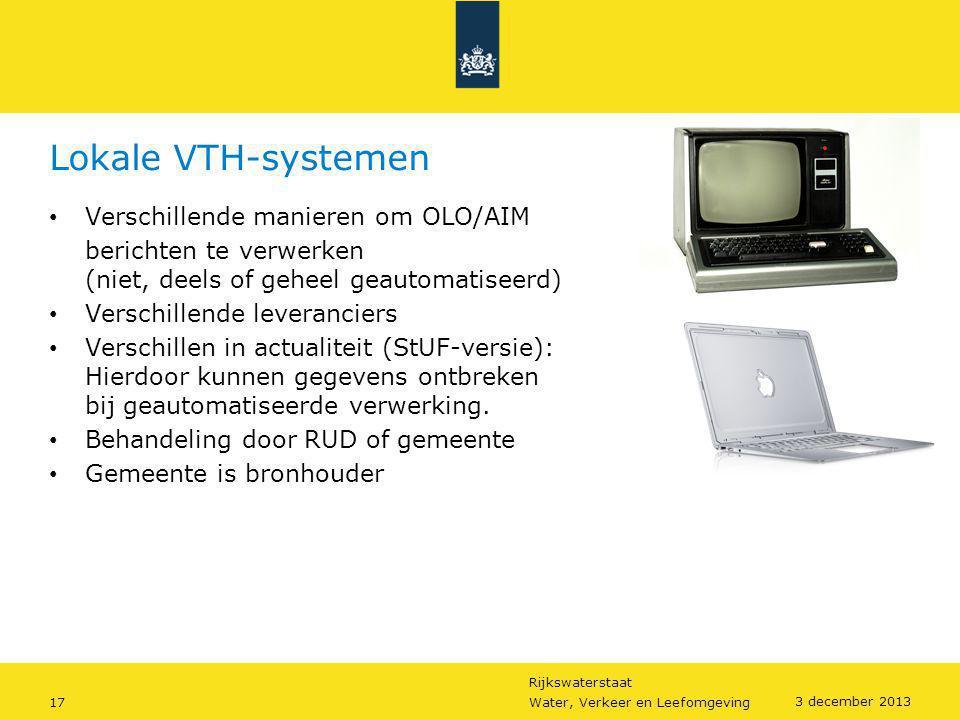 Lokale VTH-systemen Verschillende manieren om OLO/AIM