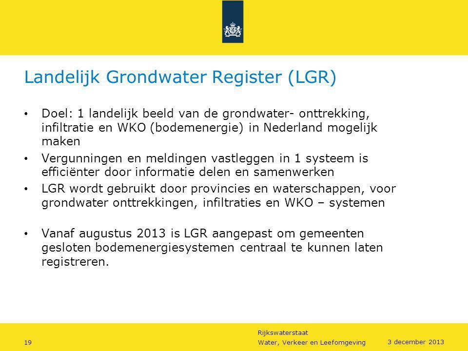 Landelijk Grondwater Register (LGR)