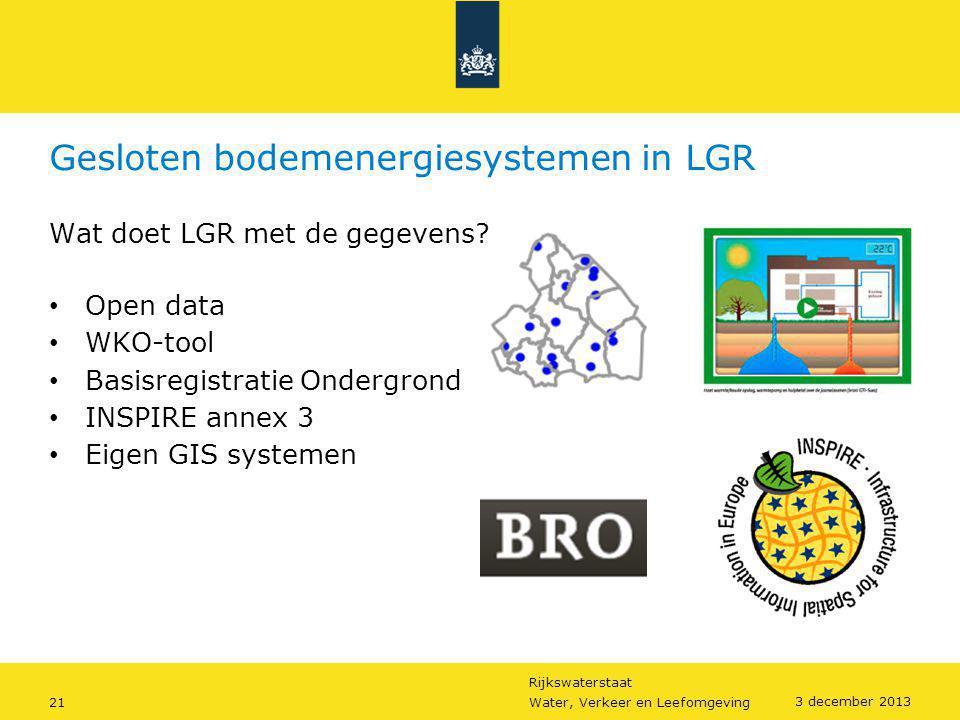 Gesloten bodemenergiesystemen in LGR