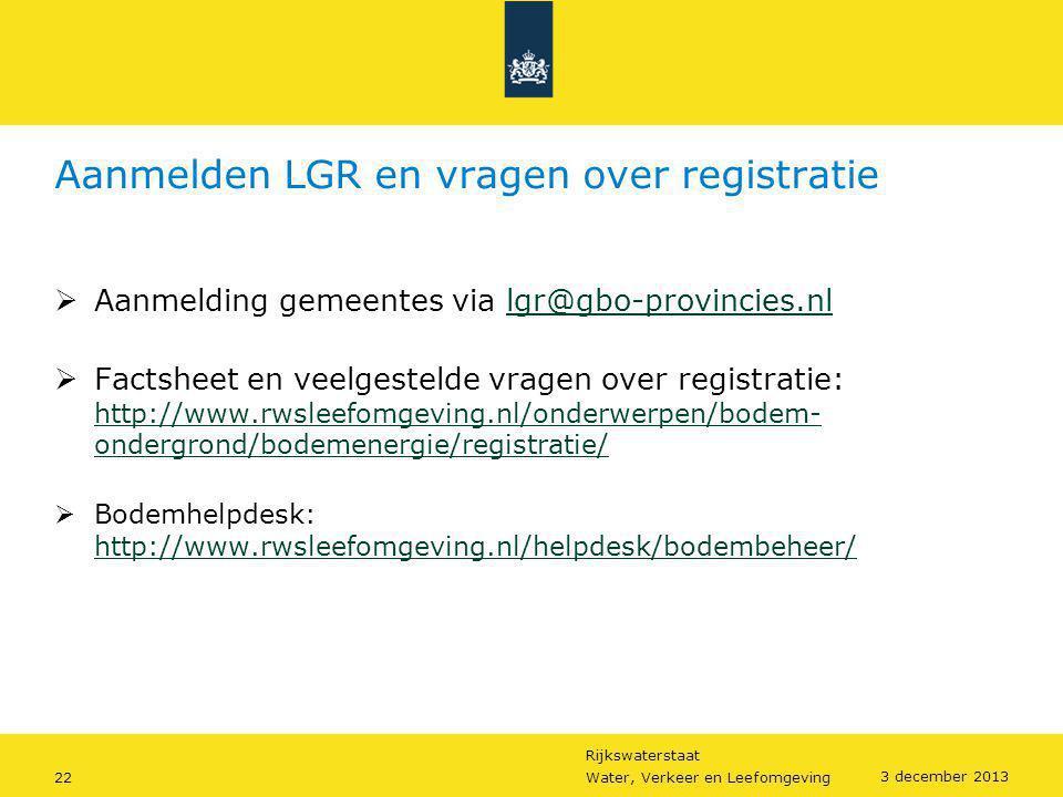 Aanmelden LGR en vragen over registratie