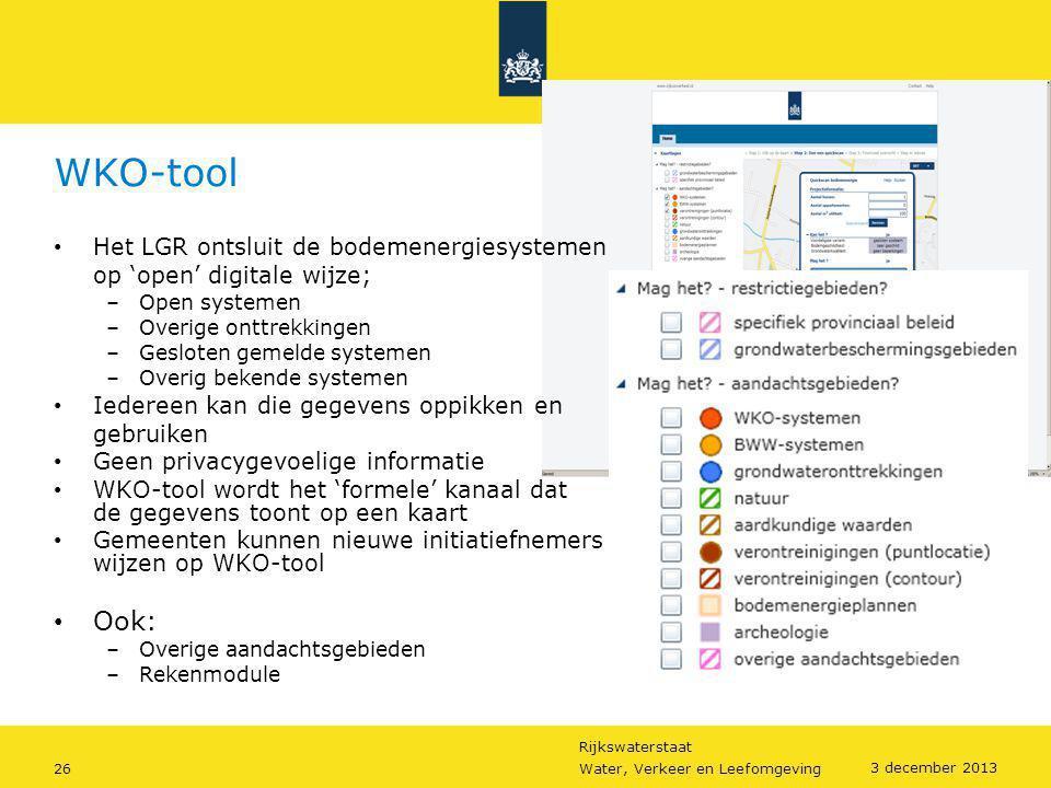WKO-tool Ook: Het LGR ontsluit de bodemenergiesystemen