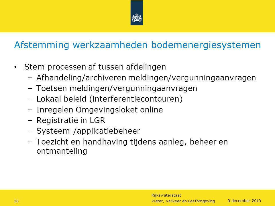 Afstemming werkzaamheden bodemenergiesystemen