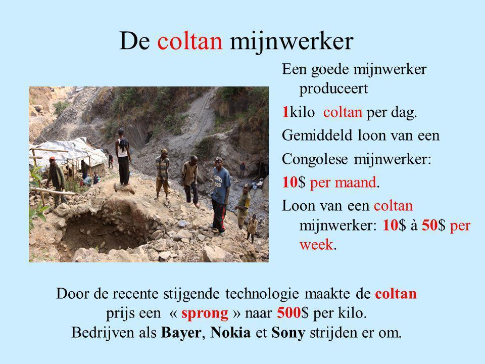 De coltan mijnwerker Een goede mijnwerker produceert
