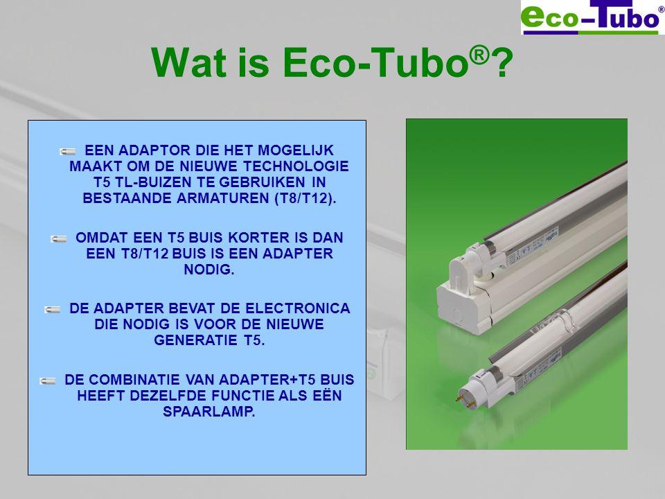 OMDAT EEN T5 BUIS KORTER IS DAN EEN T8/T12 BUIS IS EEN ADAPTER NODIG.
