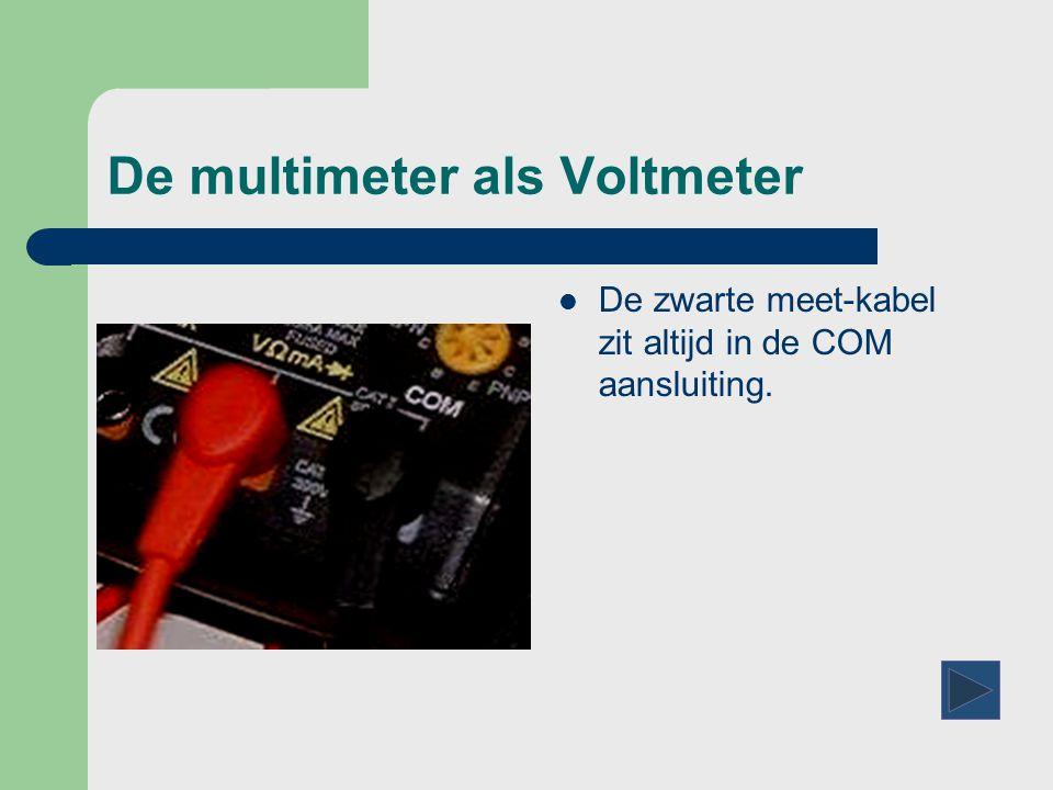 De multimeter als Voltmeter