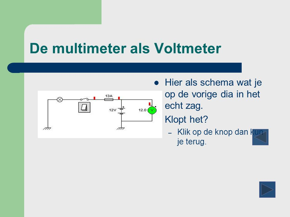 multimeter presentation Digital multimeter 1 introduction the student will learn to use the digital multimeter to take resistance, voltage and current measurments resistor values.