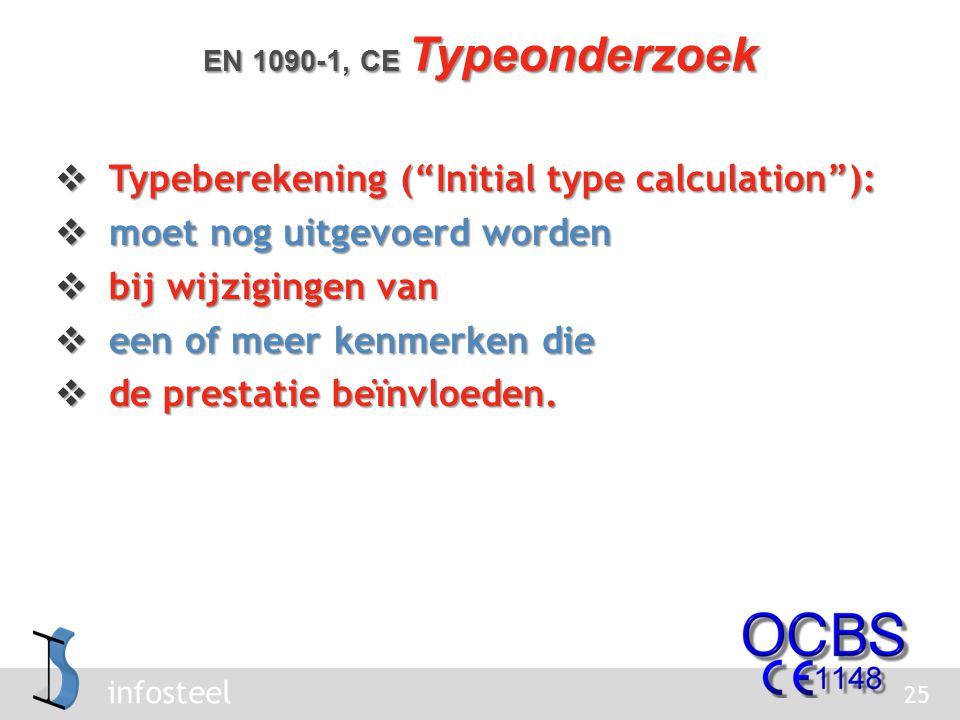 Typeberekening ( Initial type calculation ):