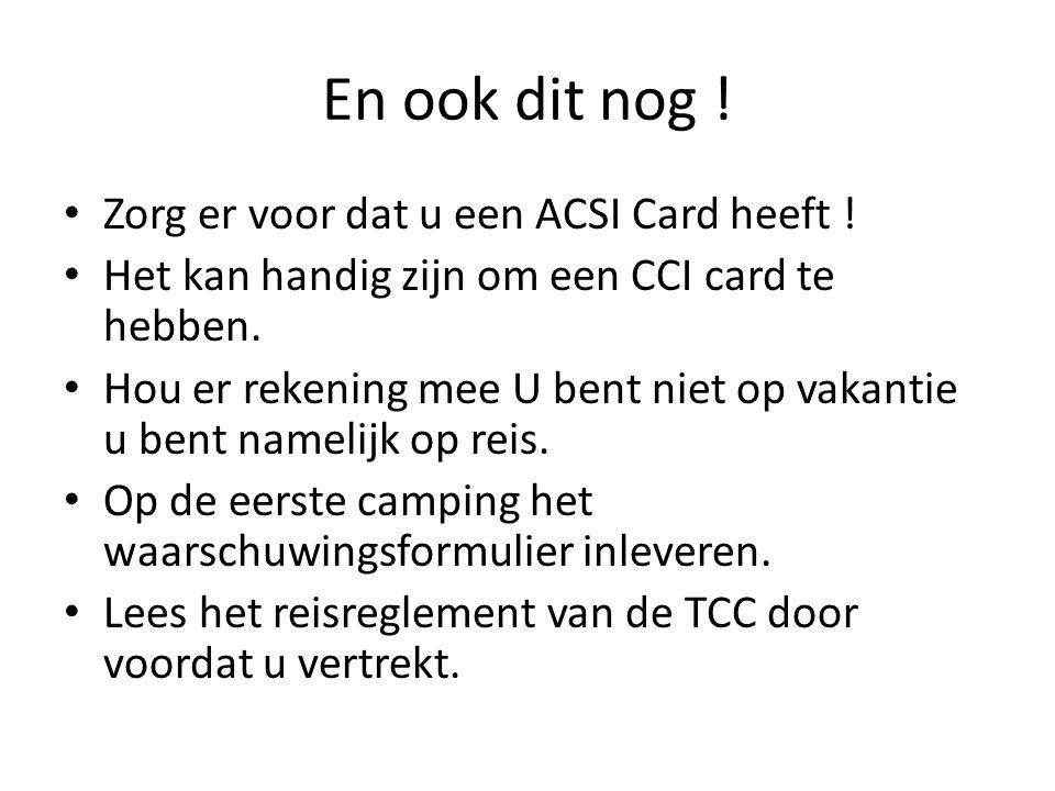 En ook dit nog ! Zorg er voor dat u een ACSI Card heeft !