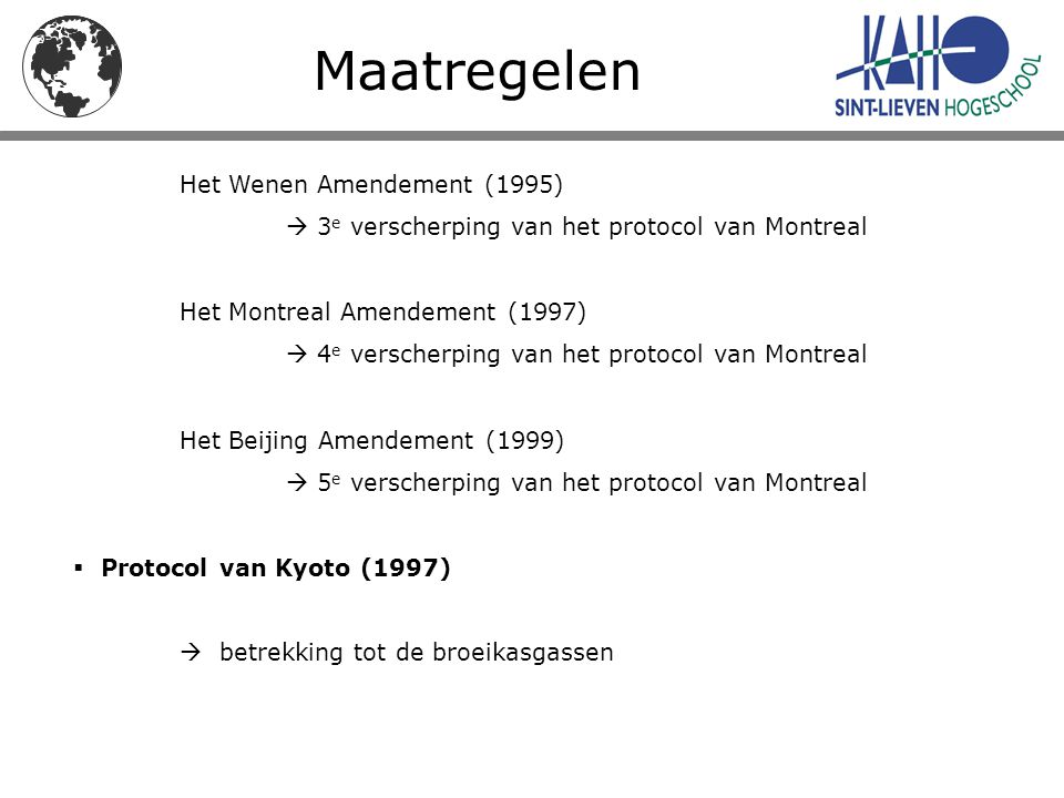 Maatregelen Het Wenen Amendement (1995)