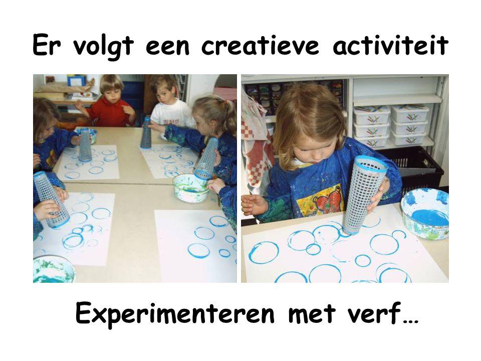 Er volgt een creatieve activiteit
