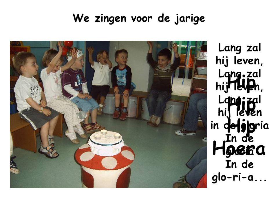 We zingen voor de jarige