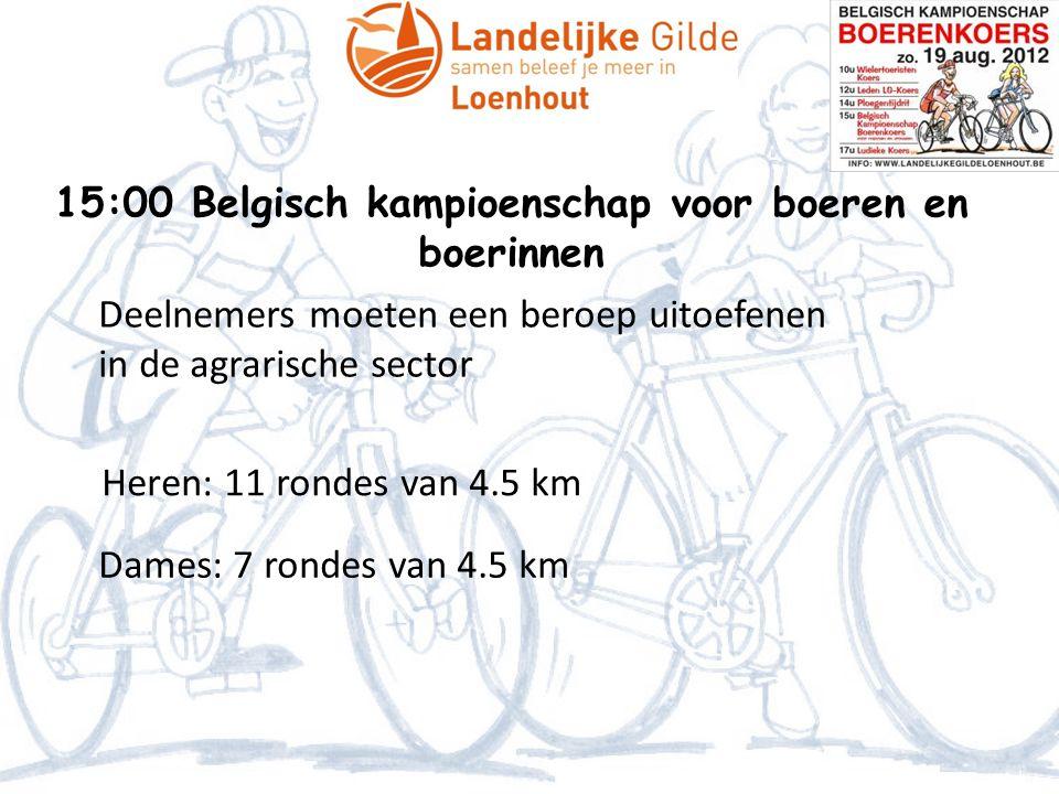 15:00 Belgisch kampioenschap voor boeren en boerinnen