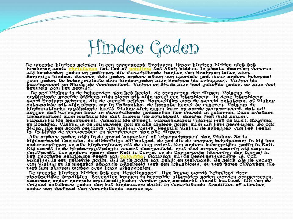 Hindoe Goden