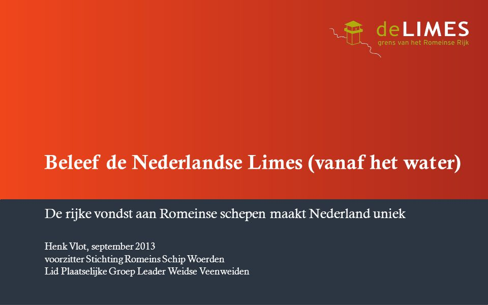 Beleef de Nederlandse Limes (vanaf het water)